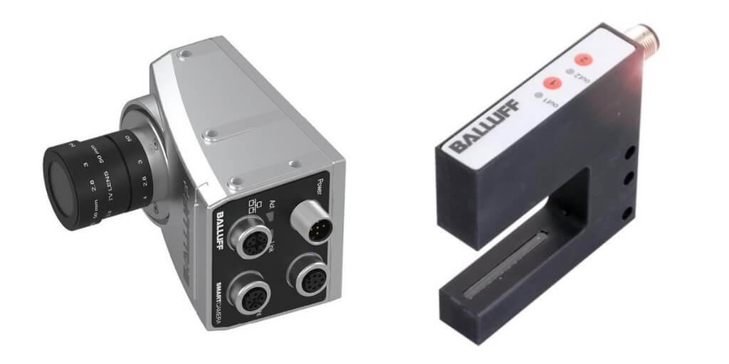 Czujnik widełkowy i Smart Camera Balluff